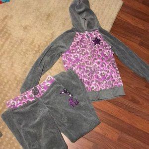 Girls Justice sweat suit size 10